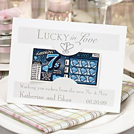 Lucky in Love Lottery Tickets Wedding Party Favors