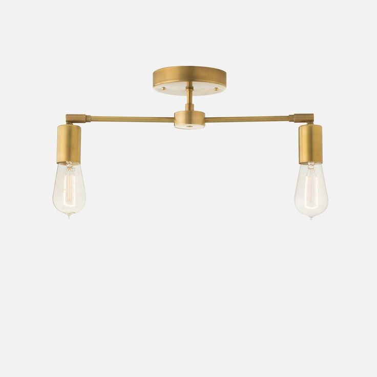 An elemental take on track lighting, the Odyssey family marries sophistication and adjustability. Suspended from a minimalist canopy, the opposing arms terminate in a swiveling socket cup, allowing for some play with light placement.   This bare bulb surface mount is a real shiner when grouped in multiples extending the length of corridors or accentuating linear countertops and furniture groupings. Personalize with your choice of bulb and update according to mood or season for dramatically…