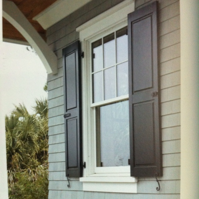 From BHG Quick And Easy Curb Appeal Book Gray Shingle Siding, Black Shutters,  White