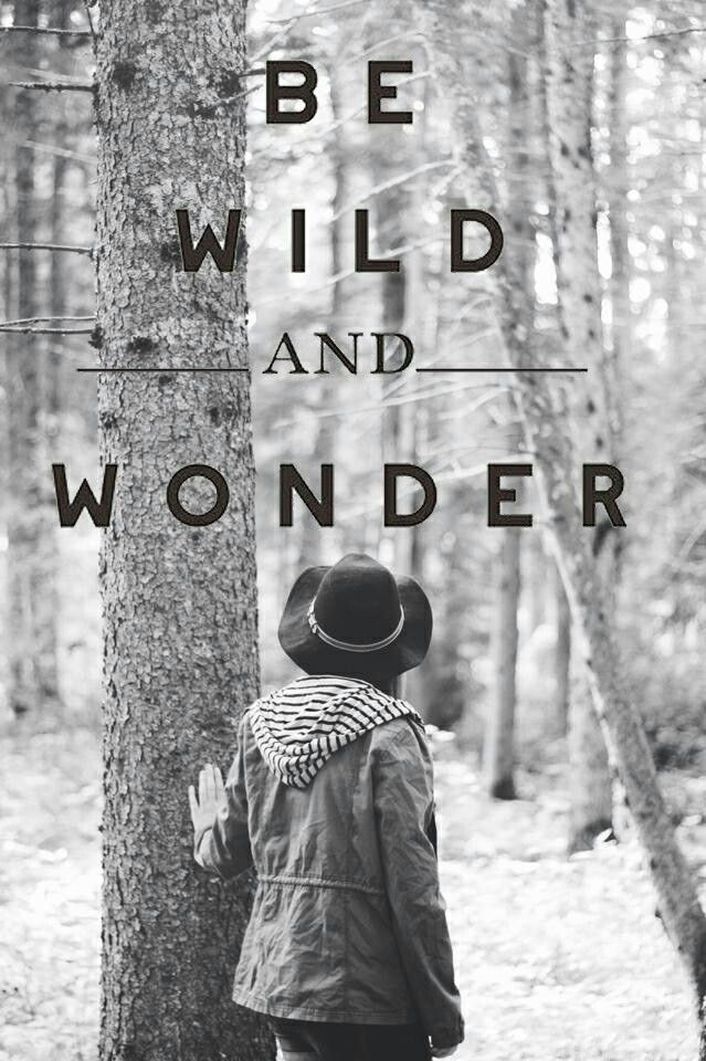 Be wild and wonder. Photography by Liv