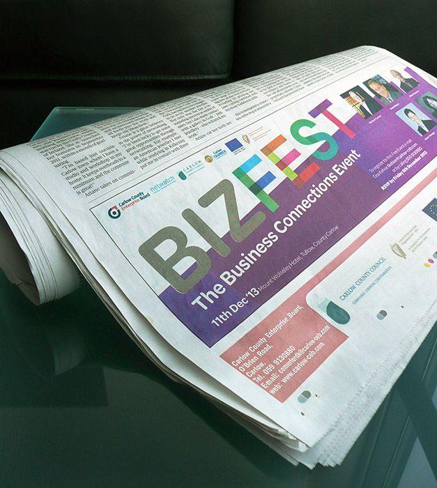 Carlow County Enterprise Board - Bizfest Advert