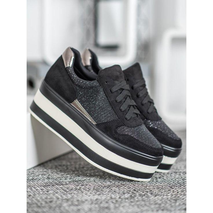 Seastar Trampki Na Platformie Czarne Szare Vans Old Skool Sneaker Shoes Vans Sneaker