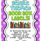 Included in this pack are over 60 genre-themed book box labels to use in your classroom library! With these bright, colorful, and illustrated label...