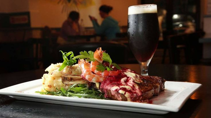 3 months aged 350g O.P Rib Eye steak, accompanied by Six String Dark Red Indian Pale Ale. Picture Max Mason-Hubers