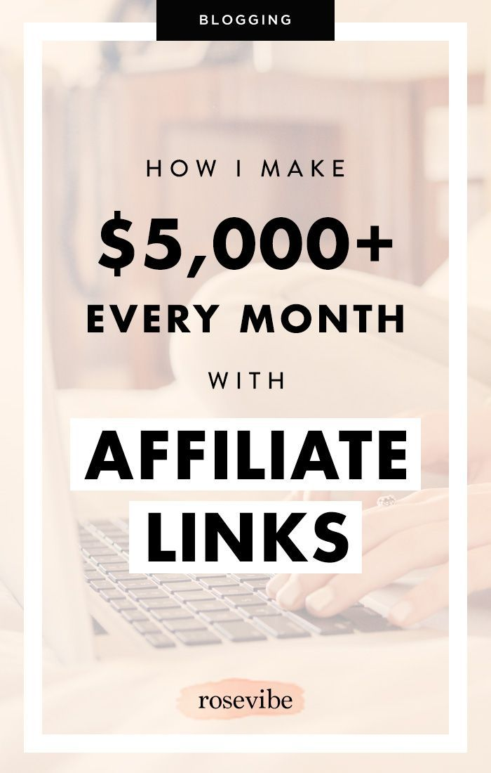 Using affiliate links is one of the best ways to monetize your blog! I earn between $3,000 to $4,000 in affiliate income alone every month. Here's how.