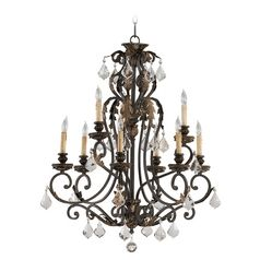 Quorum Lighting Rio Salado Toasted Sienna with Mystic Silver Chandelier