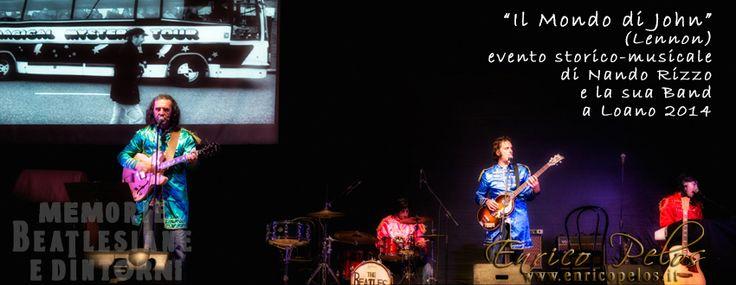 Bella serata a Loano, con la storia sempre affascinante dei Fab4 narrata in modo appassionante da Nando Rizzo ed accompagnata da foto dei luoghi Beatlesiani e dall'esecuzione dei brani a noi cari, con strumenti e abiti d'epoca. Con lui sul palco la sua band ora composta da Alberto Garassino, Lorenzo Lajolo, Nico Terzi. Co-regia di Nadia Mombrini e partecipazione di Max Berrino, per uno spettacolo sempre entusiasmante!  http://www.enricopelos.it