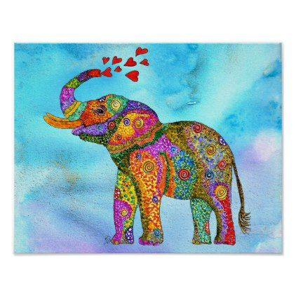 """Elephant Poster 14""""x11"""" (You can Customize) - diy cyo customize create your own personalize"""