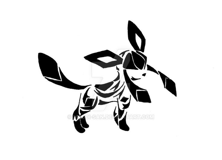And here's the last of the Eevee evolutions....Umbreon I found this one to be a tad difficult....I might do a different version later cause i'm not too pleased with how this came out....it looks to...
