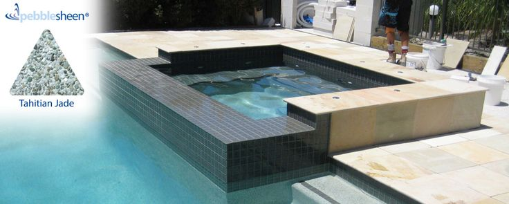 Pool and Spa design with Tahitian Jade interior