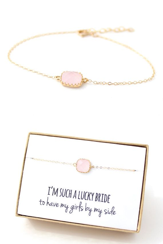 Blush Pink Bracelet Blush Pink Bridesmaid by ForTheMaids on Etsy, $18.00