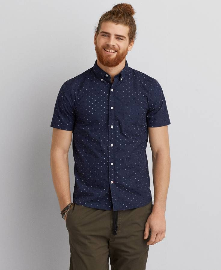 Mens Navy Button Down Shirt Is Shirt