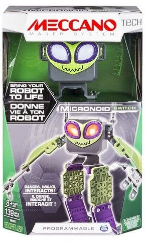 Meccano Erector - Micronoid - Green Switch, Programmable Robot Building Kit