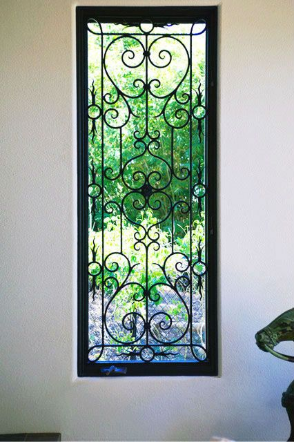 WH13W006 Gracefull Wrought Iron Window Grill Design $100~$300