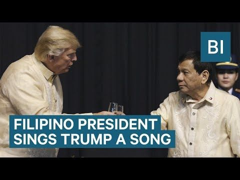 Watch controversial Philippines President Rodrigo Duterte sing a love song to Trump Business Insider