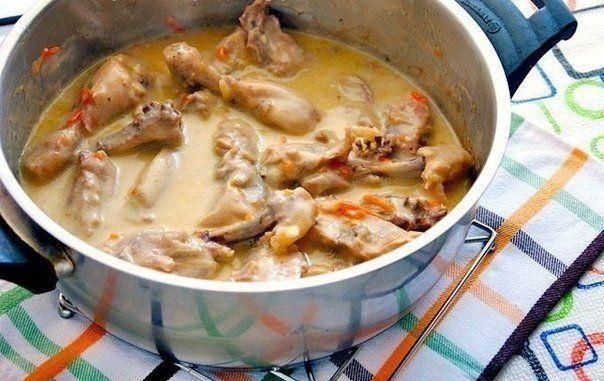 Курица в молочно-сметанном соусе