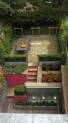 8 best images about sloping garden on pinterest terraced for Small terraced house garden ideas