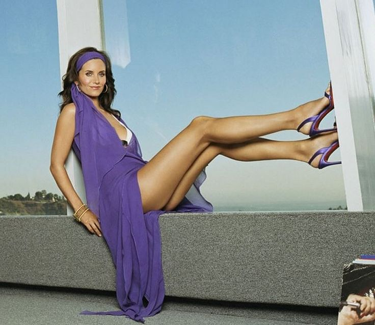 With Courtney cox legs spread are not
