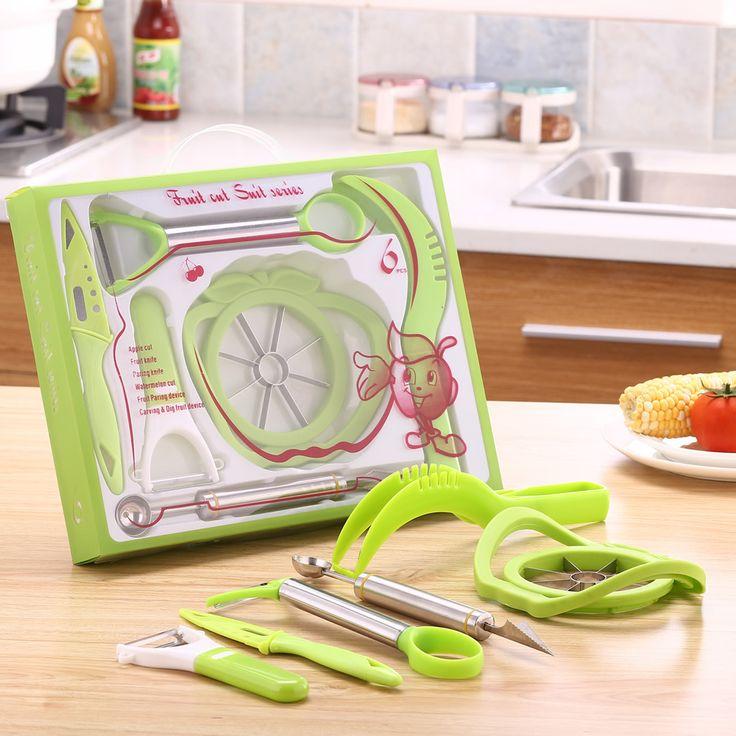 6PCS/Set Vegetable Fruit Shredders & Slicers Cutter Blades Peeler Grater Slicer apple watermelon cutter  Slicer Melon Cutter