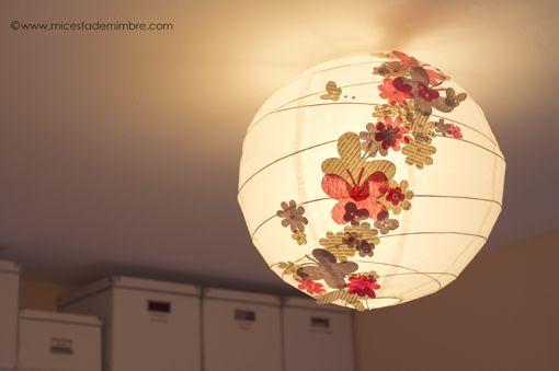 Mi cesta de mimbre: Lámpara handmade para el estudio de Marta Schmidt.