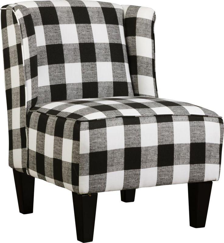 Best Georgie Black Accent Chair Chair Plaid Chair Chair 400 x 300