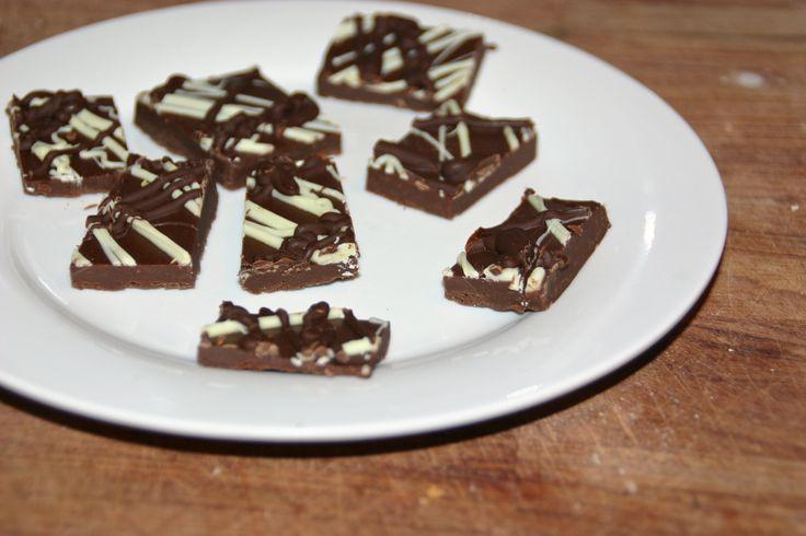 Fudge m. chokolade og kondenseret mælk