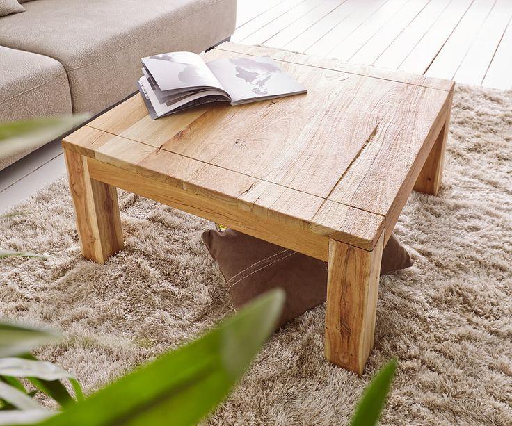 Couchtisch amadora altholz natur 80x80 cm massivholz m bel for Tische couchtische