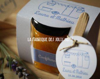 Cadeau invité Mariage - Petit pot de confiture - min 10