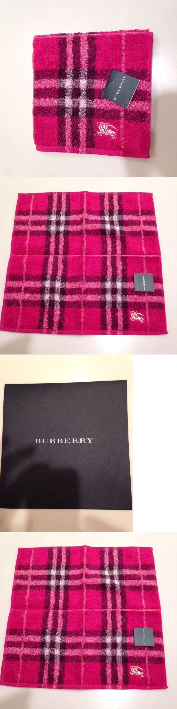 Handkerchiefs 167906: Nwt Authentic Burberry Purse Hand Towel, Pocket Towel, Baby Towel, Fuschia -> BUY IT NOW ONLY: $49.7 on eBay!