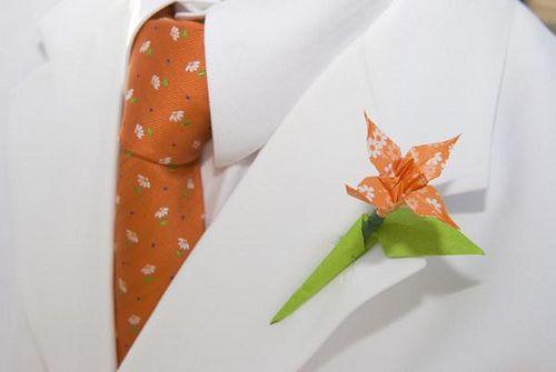 Tendencias en bodas 2012: Flores de papel en origami