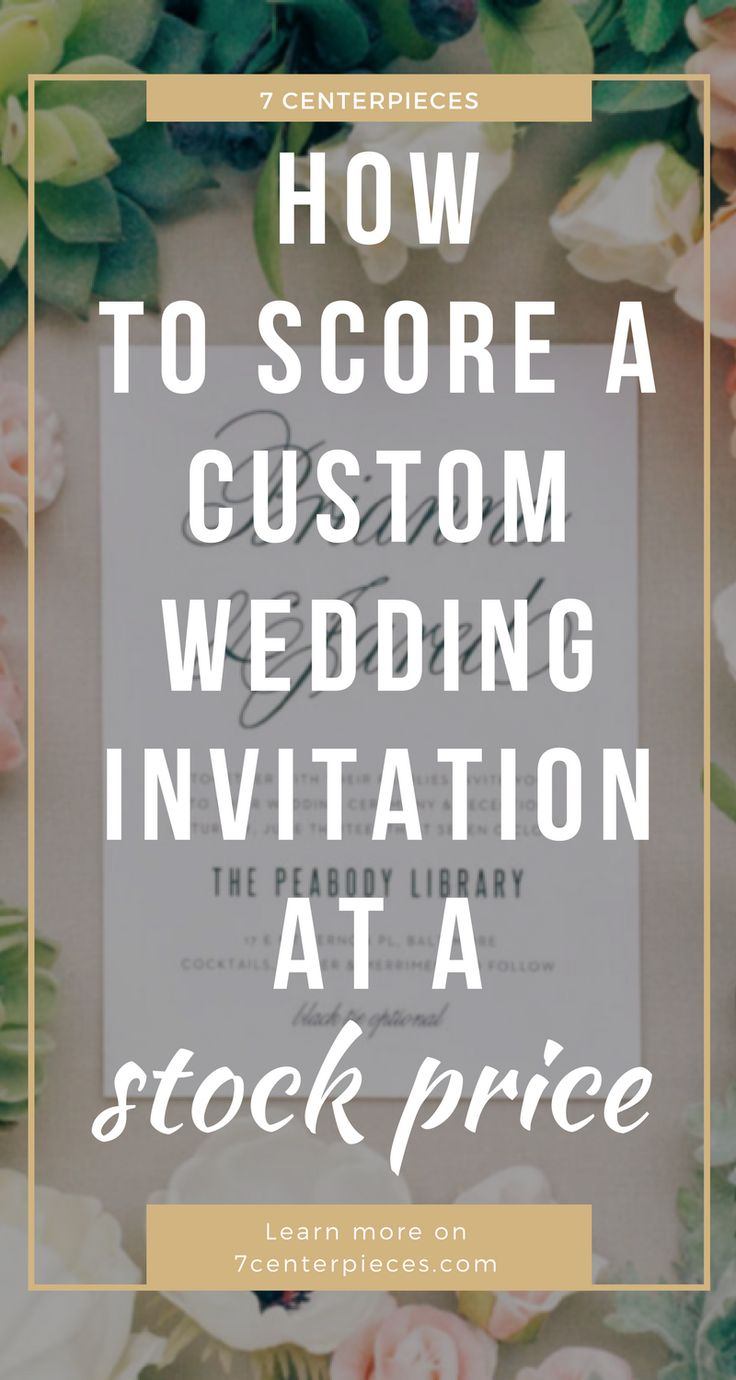 Custom wedding invitations are amazing but the price is not. Check out this article on how to have the elegant, unique wedding invitations at a stock price. Don't wait--PIN IT NOW! #weddinginvitation