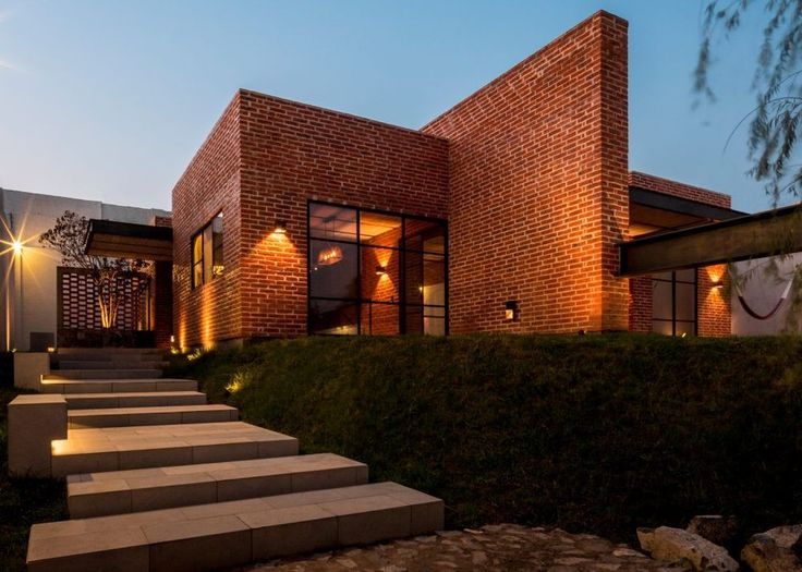 Chic brick holiday home takes its cues from Midcentury design - Curbed