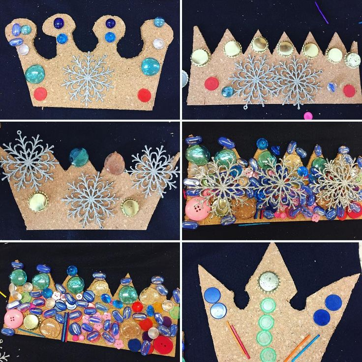 """41 Likes, 1 Comments - Laura King (@kindergartenteachertired) on Instagram: """"Crown decorating at the loose parts table! Dollorama sells square cork mats (2 for $3). We cut out…"""""""