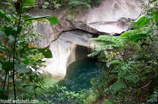 Devil's Pool near Babinda in Far North Queensland is known in Aboriginal legend as a cursed place. The dangers are held to be geographical, but local tribespeople and Babinda locals generally believe and recount the legend of an Aboriginal woman's curse on the waterhole.