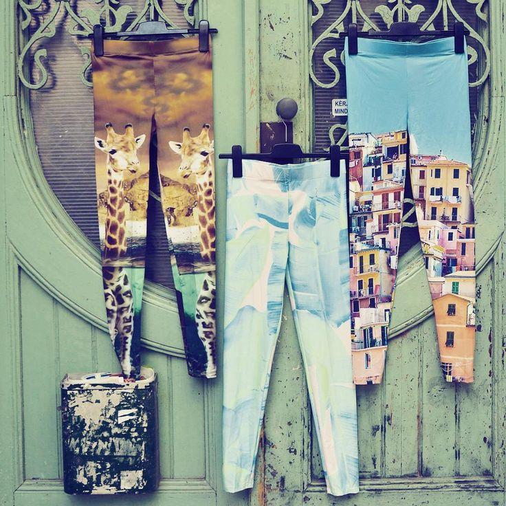 Different is beautiful 🌴 leggings collection unique print giraffe tropical palm mediterranean seacoast pants szputnyikshop