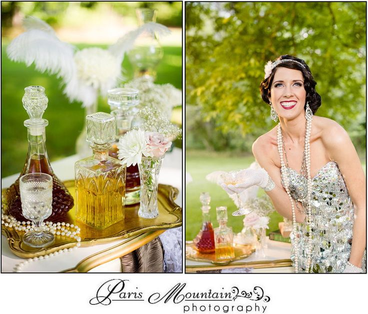 Great Gatsby Inspiration Shoot Paris Mountain Photography