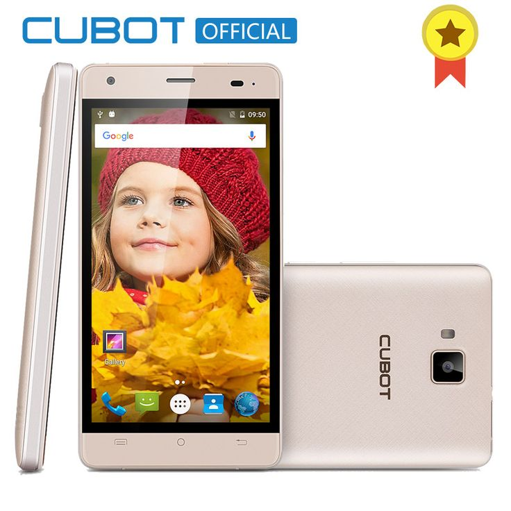 ECHO CUBOT Android 6.0 MTK6580 Quad A Core Smartphone 2 GB RAM 16 GB ROM Teléfono Celular 5.0 Pulgadas 3000 mAh abrió el Teléfono Móvil
