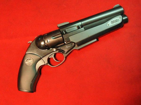 Luigi Franchi Safari 13, with a .454 casull revolver over a single shot .30-06 (hoax)