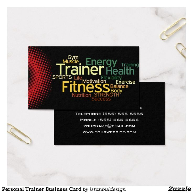 133 best Business Cards: Personal Trainer images on Pinterest ...