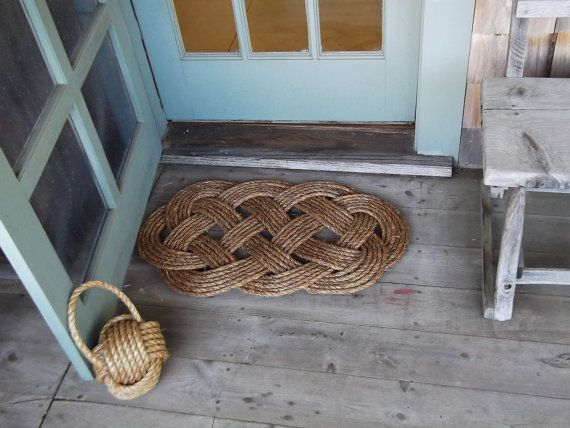 Nautical Front Doormat and Rope Rug by KarensWeddingShop