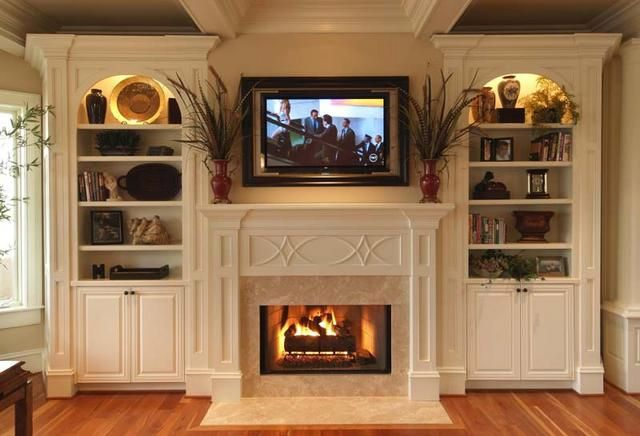 fireplace and built-ins - LOVE THIS