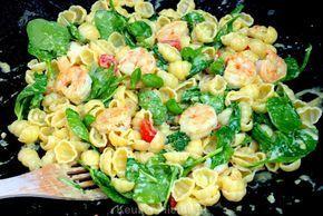 Dit is het best verkochte pastagerecht van restaurant Vapiano in Amsterdam; pasta met garnalen in heerlijke pesto-roomsaus. Ik geef je het recept.