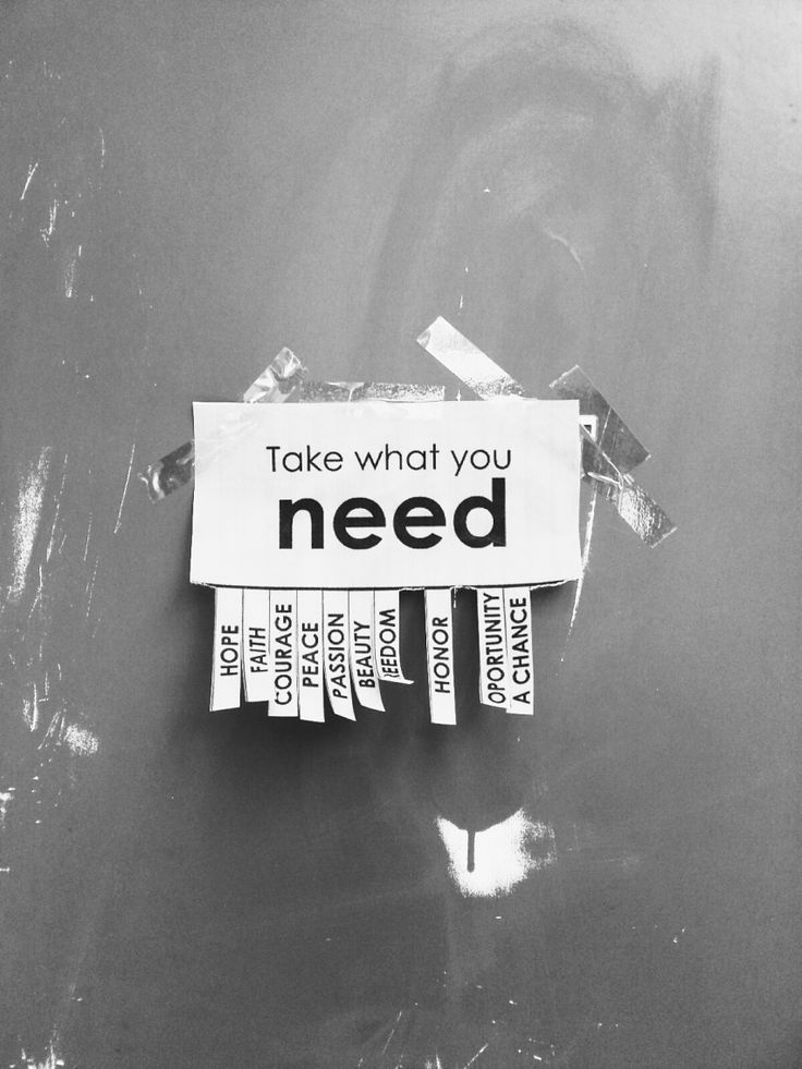 Take what you need | VSCO