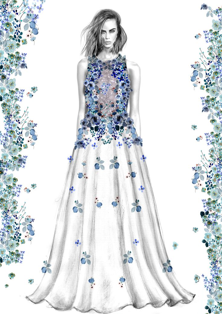 Fashion Design glitter, flowers, sequins, and crystals  Couture gown  Artist: Sabina Mihaela Dolhescu https://www.instagram.com/sabinadolhescudesigner/