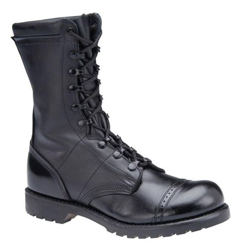 "Corcoran Mens 10 Inch Leather Field Boot: Comfort & Performance Leather ""Spit Shineable"" Leather Toe Cap and Counter Garrison Army Munson Last for Superior Fit Webbing Reinforcement for Ankle Support Special Ribbed Steel Paratrooper Shank for Support Extra Firm Heavy Duty Military Counters and Box Toes Full Height Speed Lace System DRYZ Moisture/Odor Control Shock Absorbing Cushioned Insole Vibram Self Cleaning 4-Way Traction Outsole"