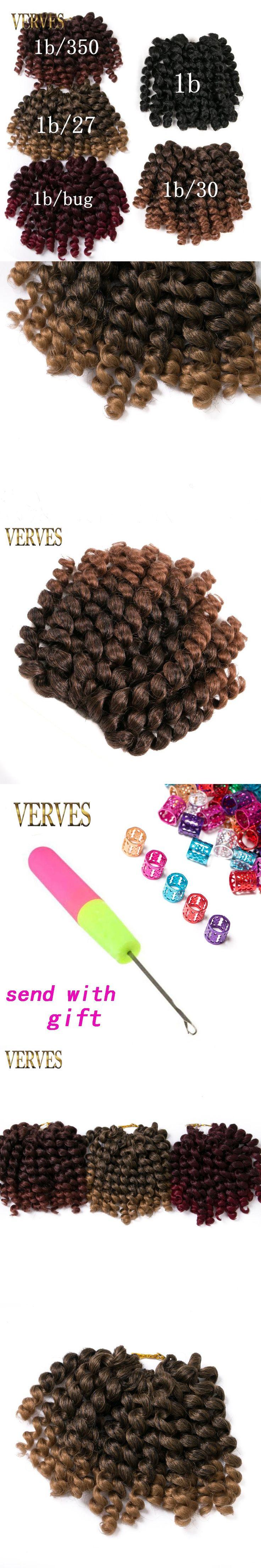 Crochet braids hair 1 piece 75g/pack 8 inch synthetic ombre braiding hair extentions VERVES  Havana Twist braids