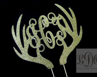 Metallisches Gold Hirsch Cake Topper  Buck und von LillyOmaDesigns