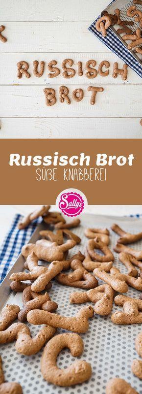 Russisch Brot, so heißen die kleinen, knusprigen Schokoladenkekse, die mit Eiwe …