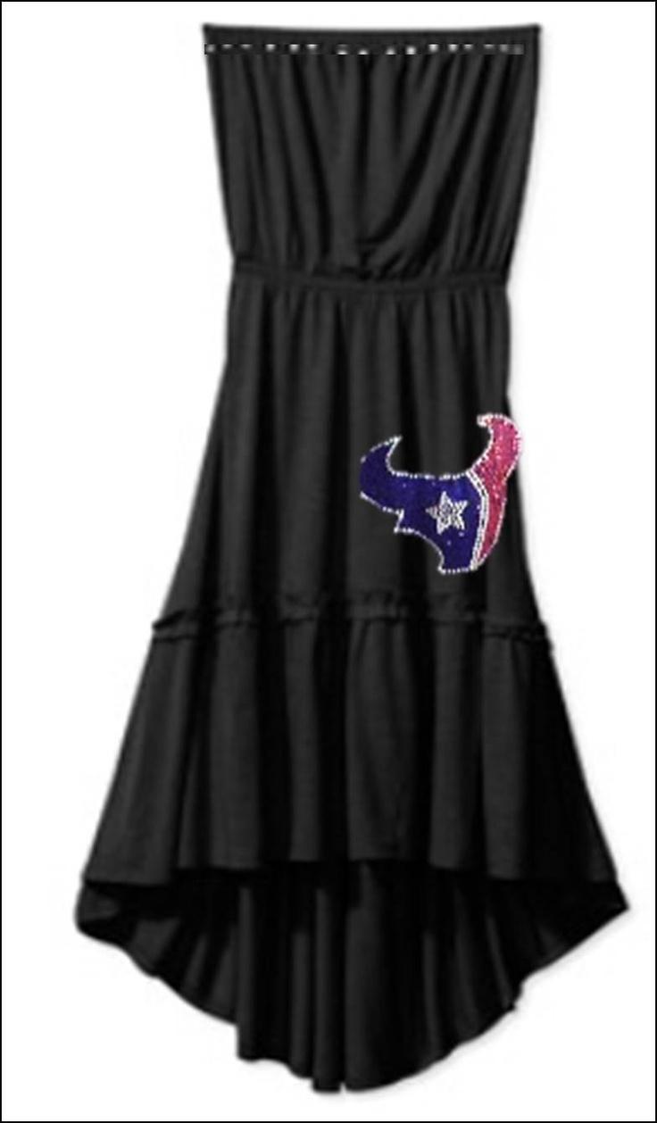 Houston Texans Rhinestone Black knit Sundress by PoshBlingBoutique