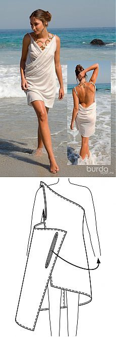 Платье-трансформер для летнего отдыха   Своими руками